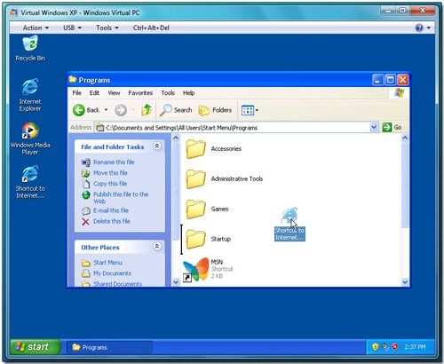 XP Mode Virtual Machine